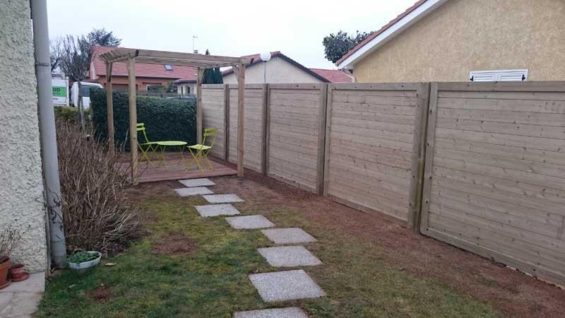 Pose de clôtures et palissades à Lyon, Décines-Charpieu, Bron